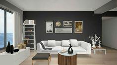#autodeskhomestyler #kristy #livingroom #chocolate #white #sofa #table #coffee #relax #2015 #december #interiordesign