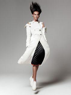 Liya Kebede by David Sims for Vogue US September 2015 - Celine