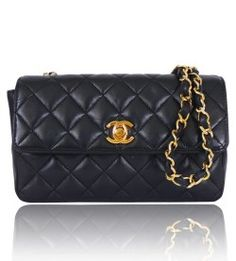 Chanel Vintage Black Quilted Lambskin Mini Classic Flap Bag | Handbags | STYLABL
