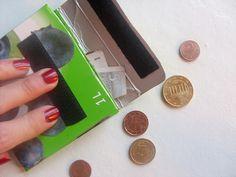 tetrapack / Geldbörse / portamonete / coin purse / by Frau Liebe