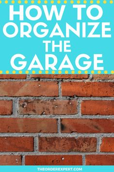 """Tired of not having a place to store your car? Finished with that giant mound of """"stuff"""" sitting in your garage? It's time to put things in order! This step-by-step guide will show you how to organize from start to finish. Getting Organized At Home, Getting Rid Of Clutter, Office Organization At Work, Garage Organization, Housekeeping Schedule, Room Cleaning Tips, Clean House Schedule, Garage Storage Solutions, Declutter Your Life"""