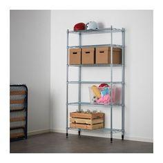 OMAR 1 reolsektion IKEA Nem at samle - kræver ikke værktøj. Står også fast på ujævne gulve, fordi fødderne kan indstilles.
