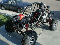4x4 buggy built from a quad