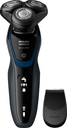 Shop Philips Norelco 5300 Wet/Dry Electric Shaver Black/Navy Blue at Best Buy. Best Electric Shaver, Electric Razor, Head Shaver, Shaving Machine, Best Shave, Ceramic Spoons, Wet Shaving, Beard Trimming, Grooming Kit