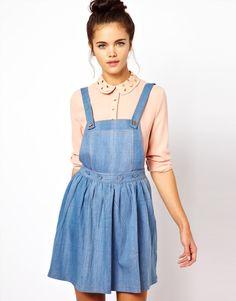 Vestido jardineira azul - http://vestidododia.com.br/modelos-de-vestido/vestidos-jardineira/vestidos-jardineira/