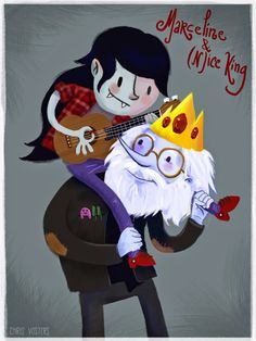 Young Marceline and Simon (Ice King) - Adventure Time - chrisvosters.blogspot.com Ice King Adventure Time, Marceline, Destiny, Brave, Illustrations, Drawings, Anime, Books, Movies