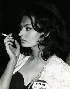 Sophia Loren old ladies always say I look like her...