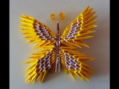 Papillon Butterfly Origami 3d