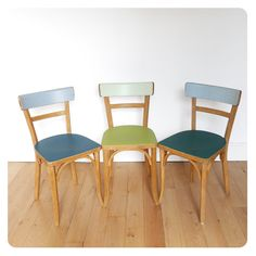 3 Chaises bistrot -