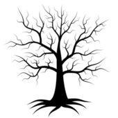 Silhueta de ramificação da árvore — Ilustração de Stock #63062553