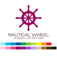 Nautical Wheel Clipart for Personal & Commercial by coloryourway