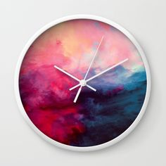 Reassurance Wall Clock by Caleb Troy | Society6