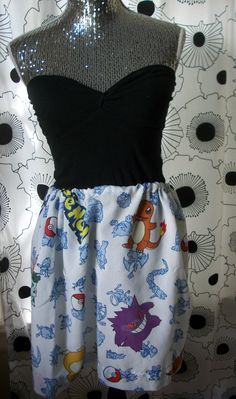 Pokemon Pikachu Game High Waisted Birthday Party Flippy Anime Recycled Skirt. $35.00, via Etsy.