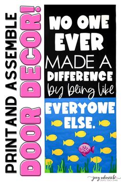 Show your students that it's wonderful to embrace our differences. Perfect for any time of the school year. Everything you need to create your own Different Door Decoration display is included. Ready to print, cut, and create. Perfect for a classroom, hallway display, school door, counselors office, and more. It's so easy to add this wonderful message to your classroom decor. #DifferentIsBeautiful #CelebrateDifferences Middle School Classroom, Classroom Door, Back To School, Hallway Displays, Counselor Office, School Doors, It's Wonderful, School Themes, Classroom Inspiration