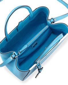 V290N Fendi 2Jours Mini Shopping Tote, Medium Blue
