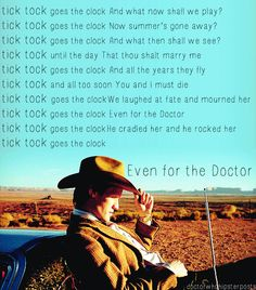 tick tock goes the clock... I hate this song but love how it says he marries river and then cradles her
