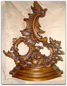 Rococo, Baroque, Wall Shelves, Shelf, Wall Brackets, Tea Cups, Porcelain, Clock, Mirror