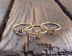 Script Initial Ring Gold Initial Ring by charlieandmarcelle, $45.00
