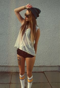 beanie, socks, tattoo.. let me please be you.