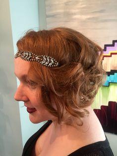 Gatsby inspired hair with headband