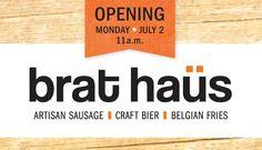 new Payton Curry restaurant in Scottsdale Brat Haus - Artisan Sausage, Craft Bier and Belgian Fries