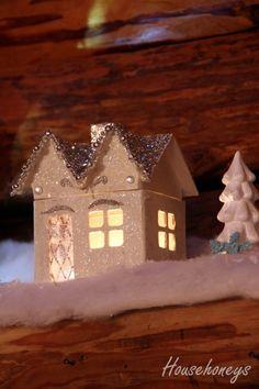 DIY paper mache houses from HouseHoneys