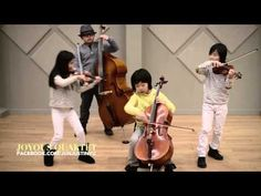 """Youngest String Quartet Ever_Stereo Hearts The youngest member of the group heard this song in her school and brought it to everyone's attention. We just fell in love with it right away. WE love its happy rhythm and positive lyrics. """"My heart is a stereo…turn me up when you feel low…this melody was meant for you…hear my thoughts in every note."""""""