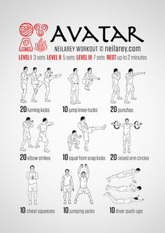Avatar, The Last Airbender workout Fitness Workouts, Sport Fitness, Fun Workouts, Yoga Fitness, At Home Workouts, Nerd Fitness, Programe Sport, Superhero Workout, Martial Arts Workout