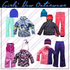 Girls' outerwear from @thenorthface, #Orage, #Obermeyer and @roxy!