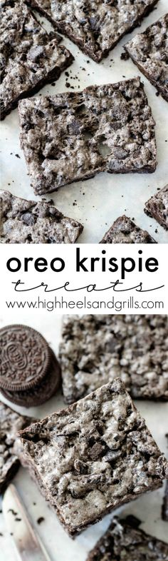 Oreo Krispie Treats Collage
