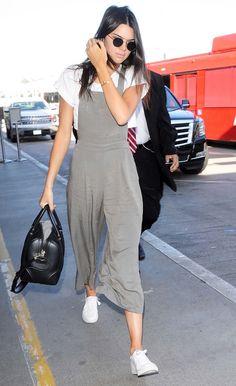 Kendall Jenner makes affordable Forever 21 overalls look designer. Shop her look now.