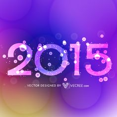 2015 Creative Happy New Year Design Free Vector #2015 #vecree