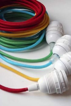 Coloured Cord Flex Light Fittings - Various Colours Available