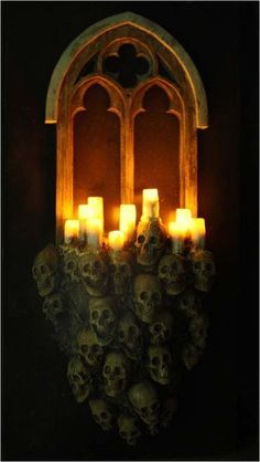 GOTHIC WINDOW Halloween Decoration