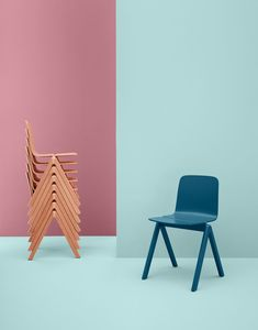 Contemporary wooden stacking chair - COPENHAGUE by Ronan & Erwan Bouroullec - Hay a/s