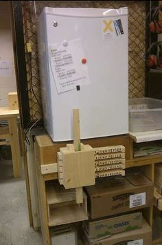 wooden combination lock DIY. Only because it's funny. I wanna lock the kids out of the fridge!