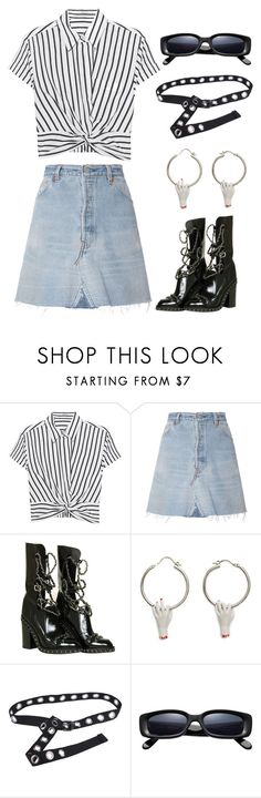 """""""Untitled #6283"""" by ijustlikefashionman ❤ liked on Polyvore featuring T By Alexander Wang, RE/DONE and Chanel"""