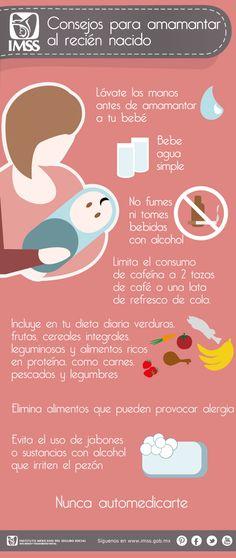 Mi pequeños aportes: Consejos para amamantar al recién nacido.  Aquí les dejo una infografía con consejos para amamantar al recién nacido.