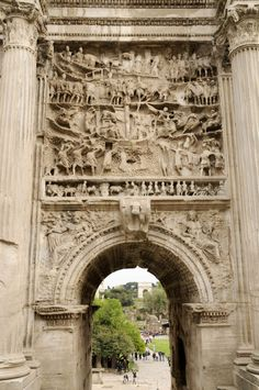 Ancient World -Arch Of Trajan, Detail, Rome, Italy.