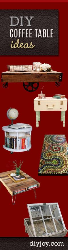 DIY Furniture Ideas - Coffee Table Tutorials for Crafty Home Decor
