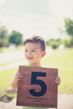 Number Wood Sign, Birthday Sign, Age Sign, Family Sign, Photography Prop, Nursery Art, Children Decor, Nursery Decor, Modern Wood Art