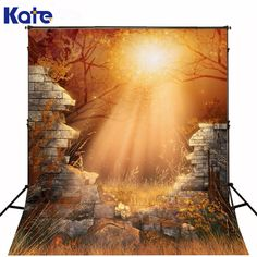 150x220cm5x7ft photography backdrops halloween Collapse of the wall strange moonlight background for studio ZJ