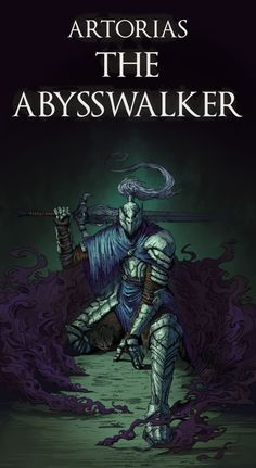 "homewardbone: ""Artorias The AbyssWalker by MrFr2eman """"Another linework Wanted to draw Artorias looong ago"" """