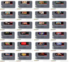 SNES Super Nintendo Cartridge Many Games to by DsCustomCases