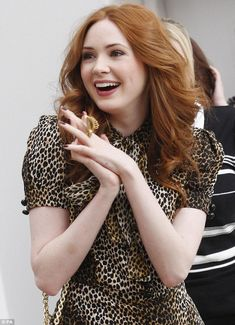Ginger dream: Karen usually has long flowing auburn locks but chopped them off for new film role