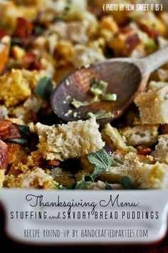 45+ Thanksgiving recipes: stuffing, savory bread pudding, bread, rolls ...