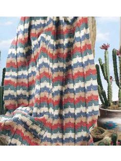 Southwestern Cables Afghan ~ free pattern