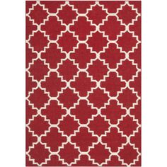 $309.39  Safavieh Transitional Handwoven Moroccan Reversible Dhurrie Red Wool Rug (8 x 10) - Overstock