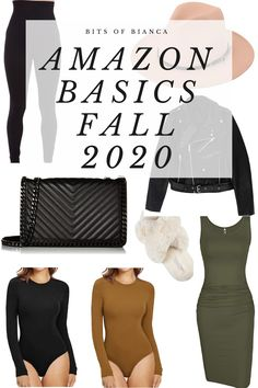 Fashion 101, Autumn Fashion, Fashion Outfits, Black Faux Leather Jacket, Faux Leather Jackets, Fall Wardrobe Basics, Amazon Clothes, Green Midi Dress, Best Amazon