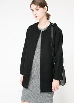 Wool-blend coat   MANGO